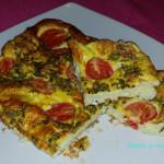 Frittata al forno con pomodorini e alici